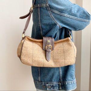 Etienne Aigner Brown Leather Shoulder Bag
